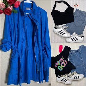 Chico's  Cobalt Blue 100% Silk Utility jacket